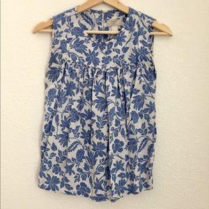 Loft floral sleeveless top